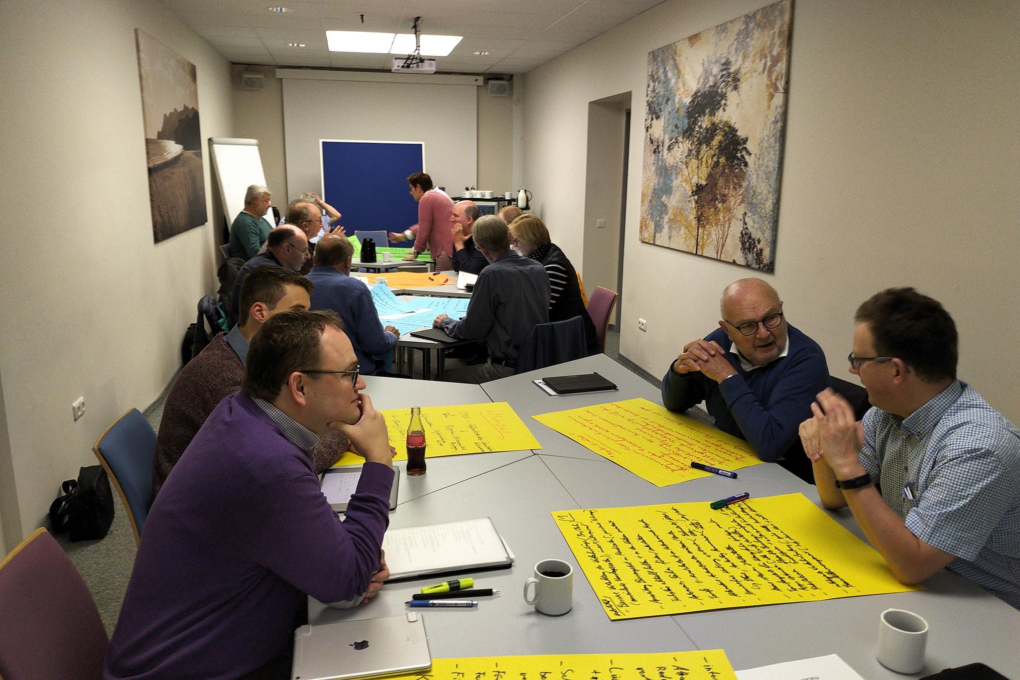 Intensive Gruppenarbeit war ein Schwerpunkt der Klausurtagung.