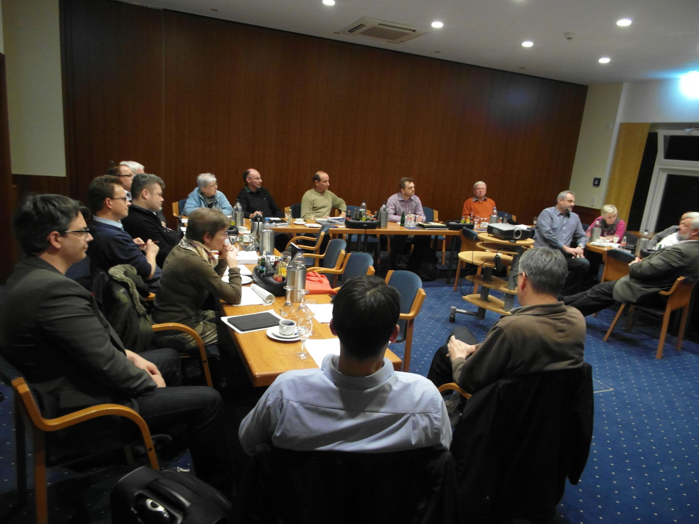 Intensive Beratungen in der ersten Klausurtagung zum aktuellen Haushaltsentwurf.